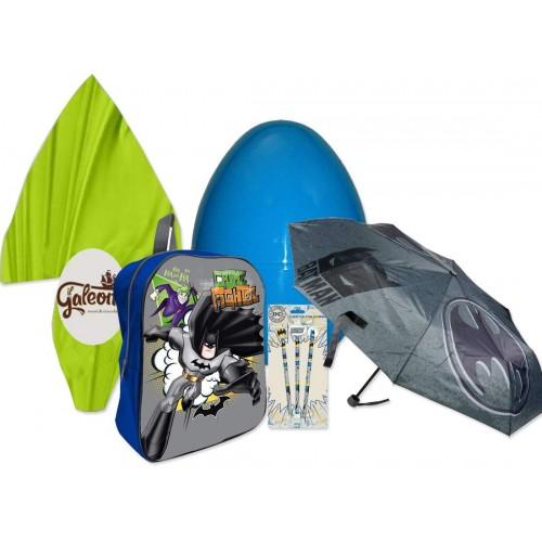 Idea regalo Uovo di pasqua con zainetto e gadget Batman