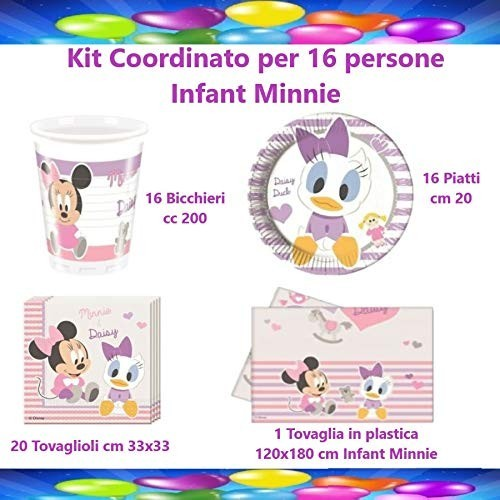 Kit per 16 persone tema Infant Minnie