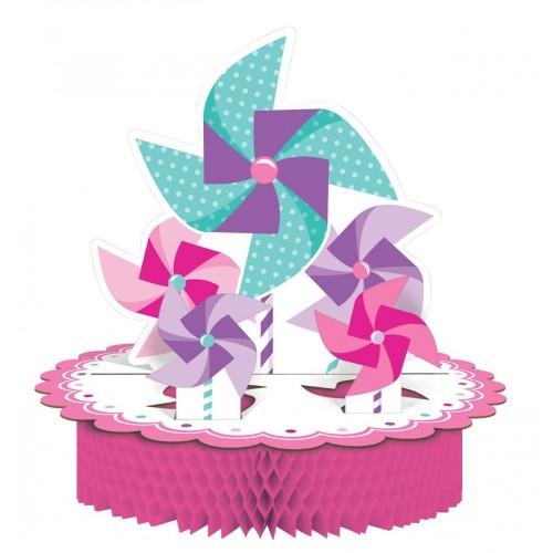 Centrotavola Girandola rosa 1° compleanno