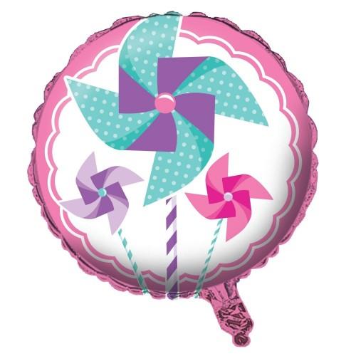 Palloncino foil in mylar 1° compleanno Girandola rosa