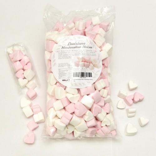 Cuori di marshmallow da 1 kg rosa e bianchi