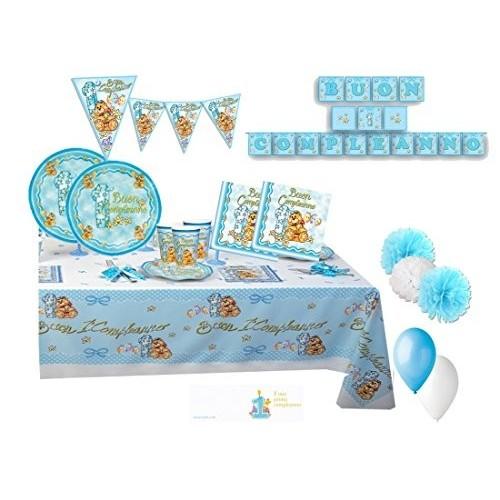 Kit per 40 bambini Primo compleanno Orsetto New