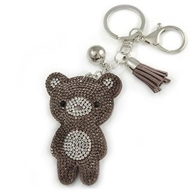 Portachiavi a forma di orsetto in metallo