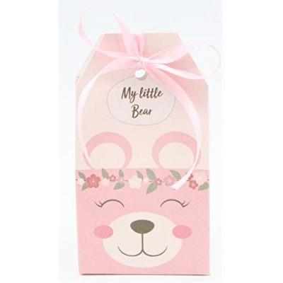 20 Scatoline portaconfetti orsetta rosa