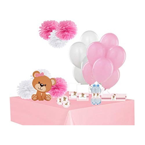 Addobbi per festa a tema orsetta rosa