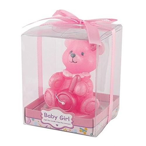 Bomboniera candela orsetta rosa