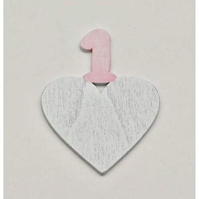 24 bomboniera legno cuore Primo compleanno