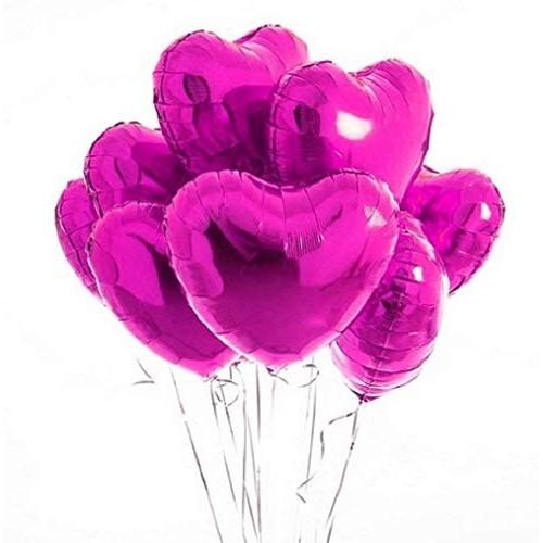 10 Palloncini cuore rosa
