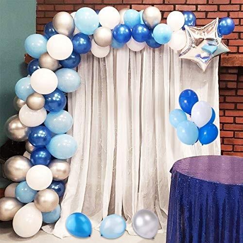 Arco di palloncini celeste e bianco
