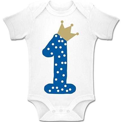 Body 1° compleanno bambino con corona