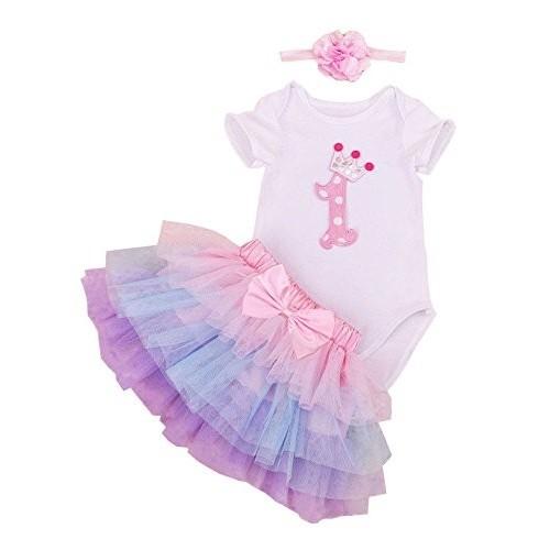 Body con tutù rosa per neonati, primo compleanno