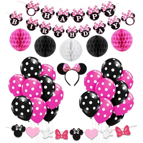 Palloncini assortiti Minnie + cerchietto capelli