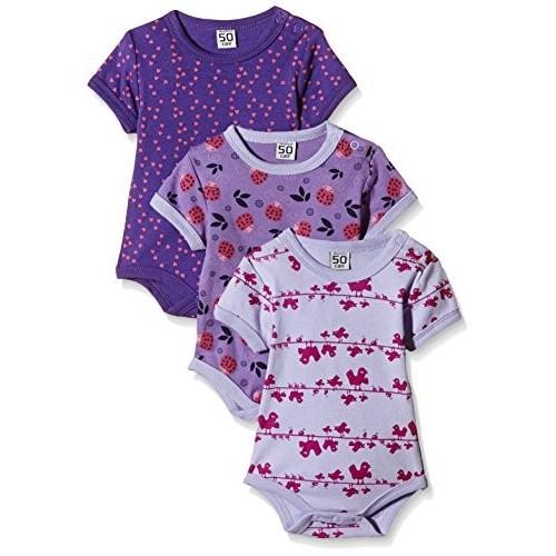 3 o 6 Body bambina viola e pink