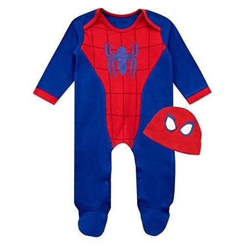 Tutina notte, con cappello Spiderman