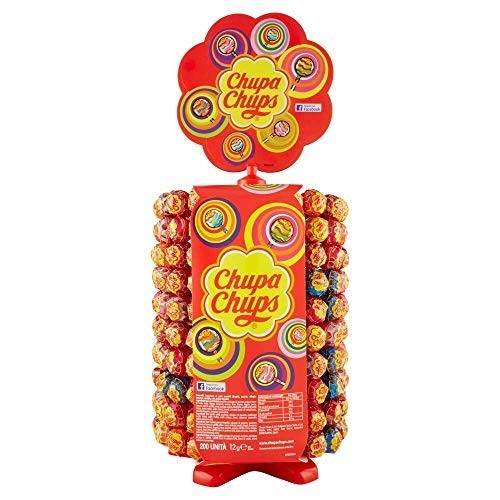 Dispenser con 200 Chupa Chups, Lollipop frutti assortiti