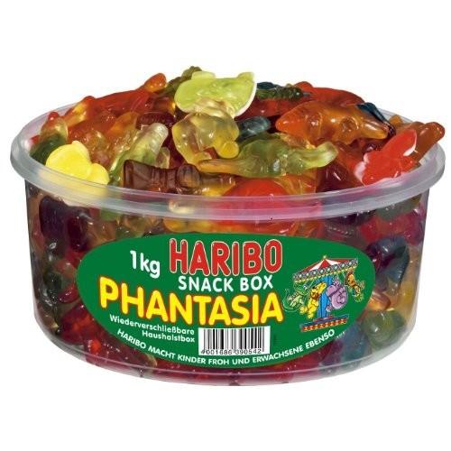 Barattolo Haribo Phantasia, caramelle gommose alla Frutta da 1000g