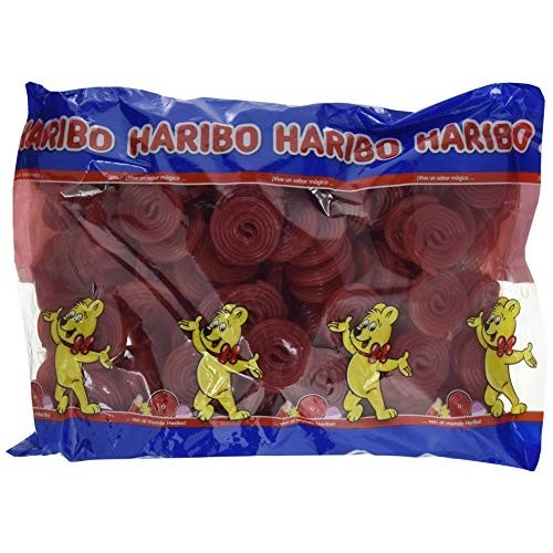 Caramelle gommose Rotelle rosse Haribo