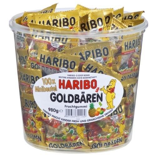 Confezione con 100 orsetti oro Haribo