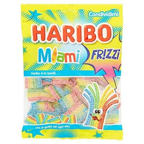 Caramelle Miami Frizzi - Haribo 175Gr