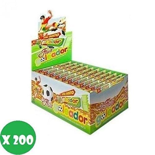 Box con 200 doppie caramelle Goleador gusto frutta Mix