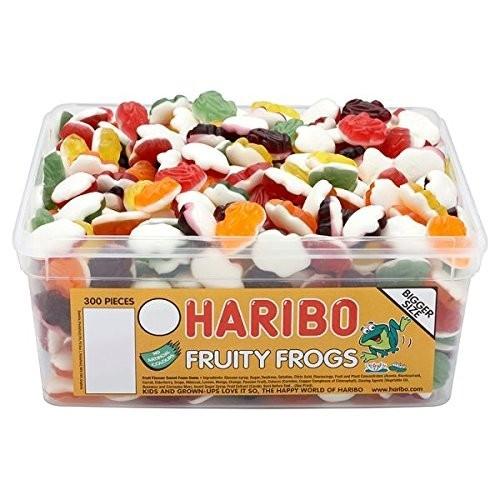 Barattolo con 300 Haribo Fruity rane