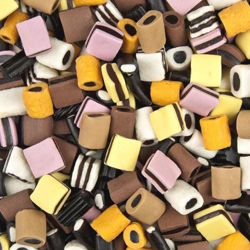 Confezione da 3k caramelle confetti liquirizia Haribo