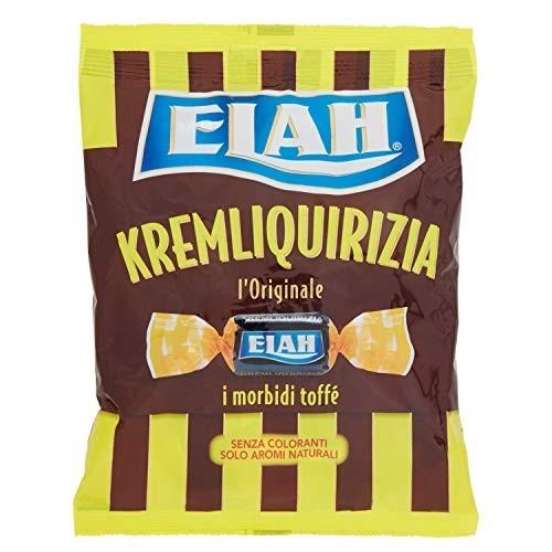 Confezione da 180g di caramelle cremose Elah Kremliquirizia
