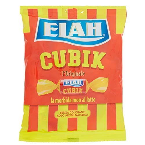 Confezione da 180gr di caramelle Elah Cubik