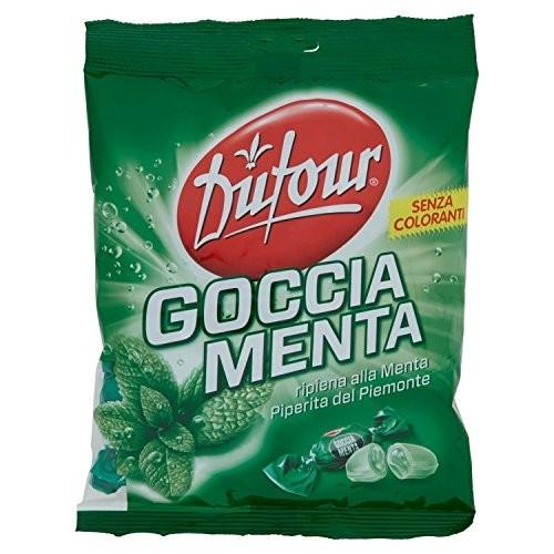 Confezione da 200gr di Caramelle goccia menta - Dufour