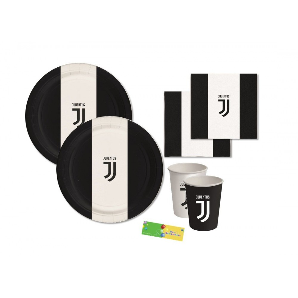 Kit per 16 persone F.C Juventus, coordinato tavola