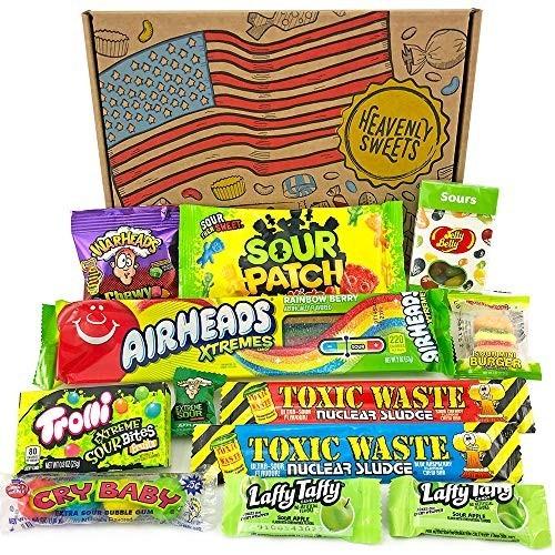 Confezione caramelle americane, scatola regalo