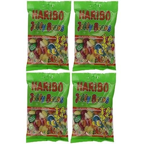 4 confezioni caramelle Haribo Jelly Beans