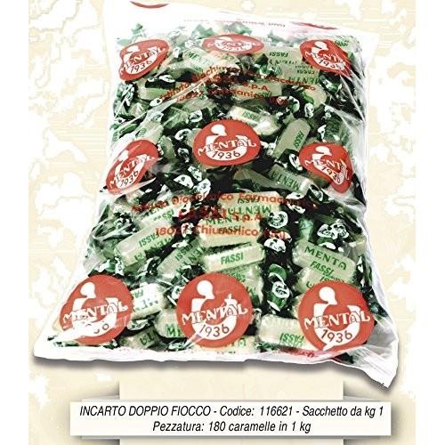 Caramelle Fassi dure gusto menta, conf. da 1kg