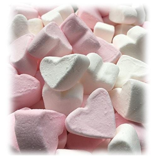 Marshmallow forma cuori rosa e bianchi da 1kg