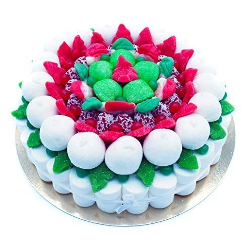 Torta di caramelle marshmallow Christmas da 27 cm