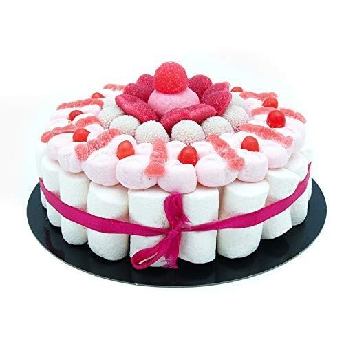 Torta di caramelle marshmallow rosa da 22cm