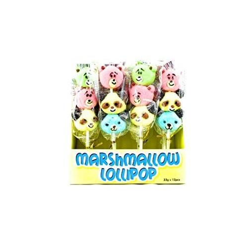 Spiedini di marshmallow Panda orsetti 12pz da 33g