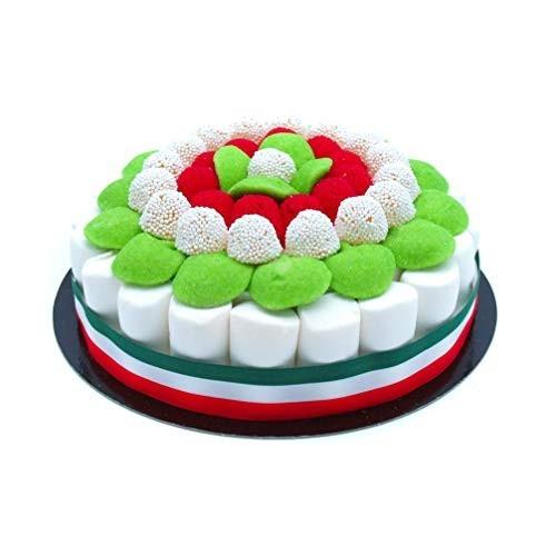 Torta di caramelle tricolore Italia da 22 cm