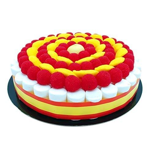 Torta di caramelle bandiera Spagna da 27 cm