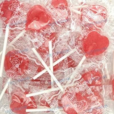 100 lecca lecca forma cuore alla fragola