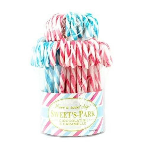 60 Lecca Lecca Candy Cane rosa e azzurri