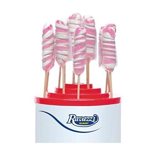 60 Lecca Lecca Twister rosa e bianchi