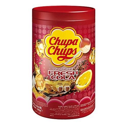 Barattolo con 100 Chupa Chups gusto Cola