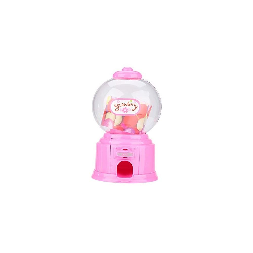Mini distributore di caramelle colore rosa