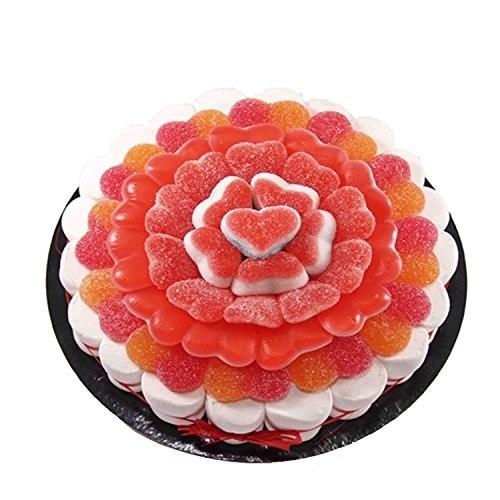 Torta di caramelle cuori gommosi Love da 22 cm