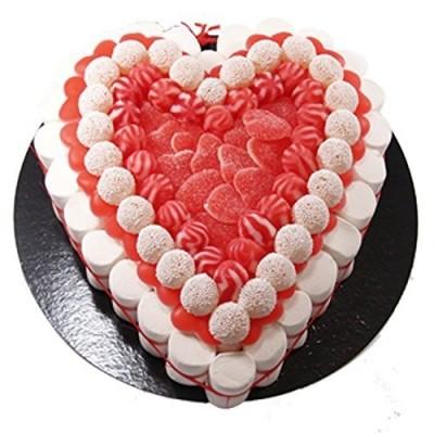 Torta di caramelle forma cuore da 27 cm
