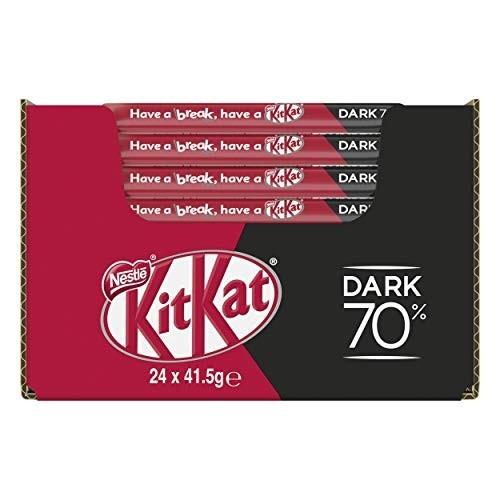 24 KitKat Dark 70% Wafer Ricoperto di Cioccolato Fondente