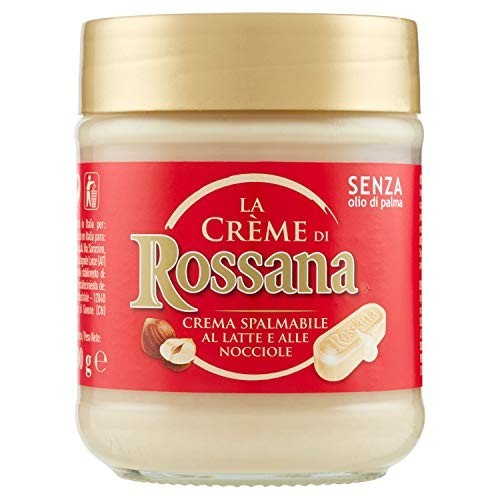 Barattolo di crema spalmabile Rossana bianca da 200 gr