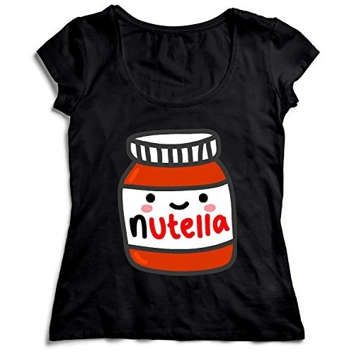 T-shirt donna Nutella colore nero