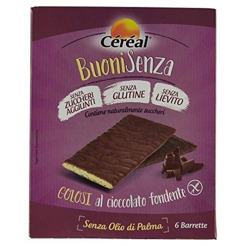 6 barrette di cioccolato fondente ai cereali